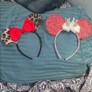 Minnie Mouse ears headband (2 for price of one)
